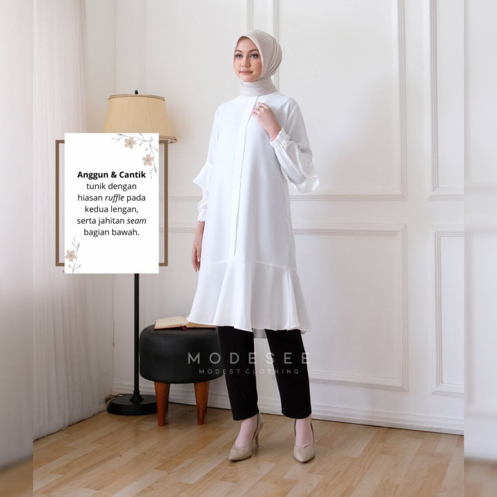 Tunic Knot Clear White Modesee M1257