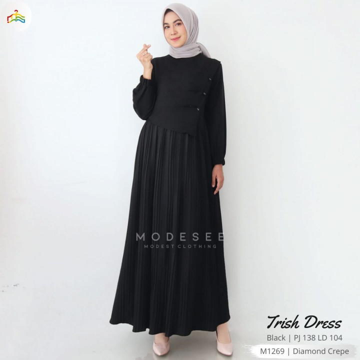 Trish Dress Black Modesee M1269
