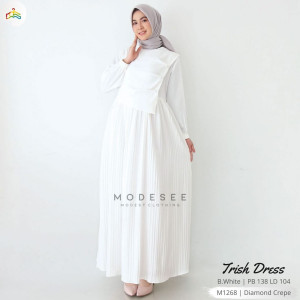 Trish Dress White Modesee M1268