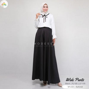 Wide Pants Black Modesee M1233
