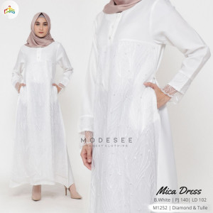 Mica White Dress Modesee M1252