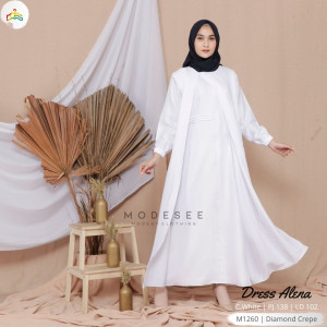 Alena Dress Clear White Modesee M1260