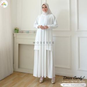Cardy Dress White Modesee M1173