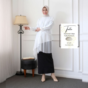 Tunic Trish White Modesee M1238