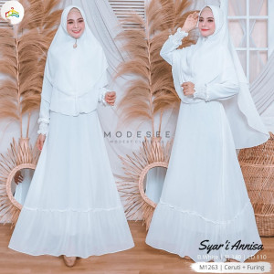 Syari Dress Annisa White Modesee M1263