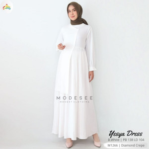Yesya Dress White Modesee M1266