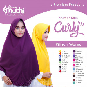 Khimar Daily Curly XL Dewasa